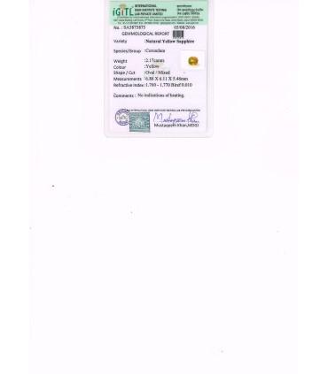 4.04 cts Natural Hessonite Garnet