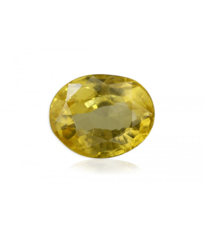 3.74 cts Unheated Natural Yellow Sapphire