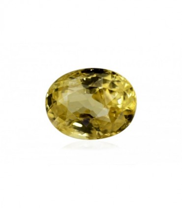 7.46 cts Unheated Natural Yellow Sapphire