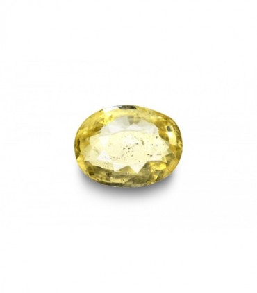 2.21 cts Unheated Natural Yellow Sapphire