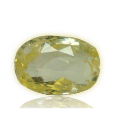 2.91 cts Unheated Natural Yellow Sapphire